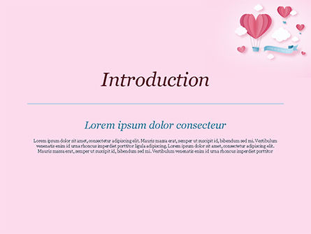 Love Is In The Air Powerpoint Template Backgrounds 15429