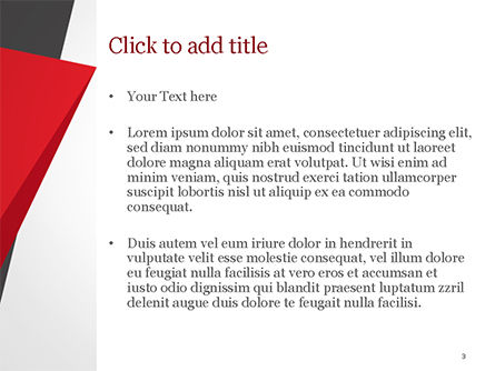 Geometric Black Red and Yellow PowerPoint Template, Slide 3, 15430, Abstract/Textures — PoweredTemplate.com