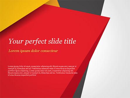 Abstract/Textures: Geometrisch Zwart Rood En Geel PowerPoint Template #15430