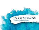 Abstract/Textures: Blue Watercolor Stains PowerPoint Template #15432