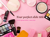 Careers/Industry: Female Cosmetic Accessories PowerPoint Template #15433