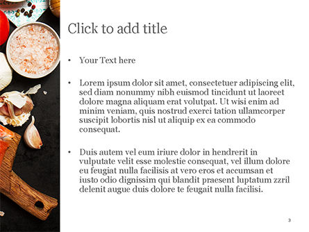 Delicious Portion of Fresh Salmon PowerPoint Template, Slide 3, 15434, Food & Beverage — PoweredTemplate.com