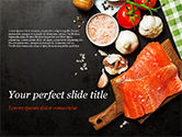 Food & Beverage: Delicious Portion of Fresh Salmon PowerPoint Template #15434