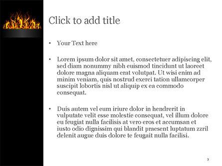 Flame PowerPoint Template, Slide 3, 15435, Abstract/Textures — PoweredTemplate.com