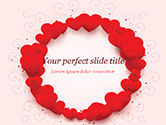 Holiday/Special Occasion: Circle of Hearts PowerPoint Template #15438