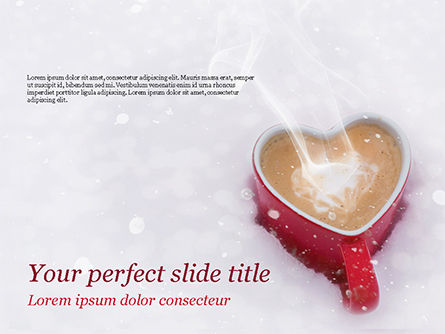 Holiday/Special Occasion: Heart Shaped Coffee Mug PowerPoint Template #15440