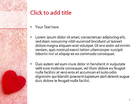 Heart on Pink Background PowerPoint Template, Slide 3, 15442, Holiday/Special Occasion — PoweredTemplate.com