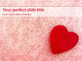 Holiday/Special Occasion: Hart Op Roze Achtergrond PowerPoint Template #15442