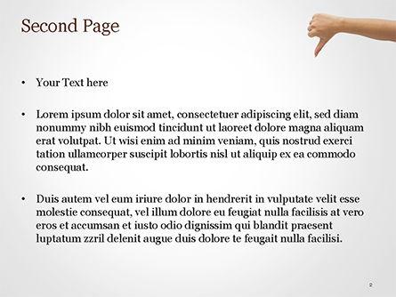 Dislike PowerPoint Template, Slide 2, 15445, Business Concepts — PoweredTemplate.com