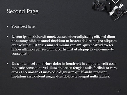 Retro Cameras PowerPoint Template, Slide 2, 15446, Careers/Industry — PoweredTemplate.com