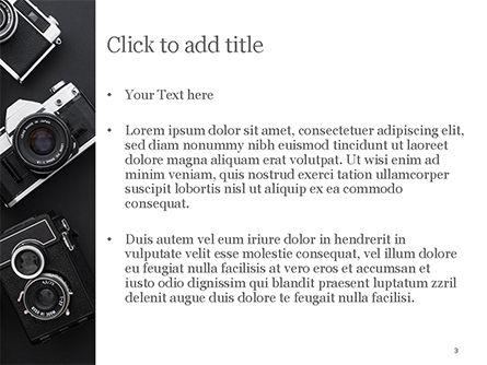 Retro Cameras PowerPoint Template, Slide 3, 15446, Careers/Industry — PoweredTemplate.com