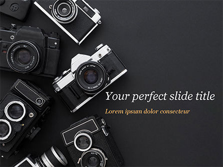 Careers/Industry: Retro Cameras PowerPoint Template #15446
