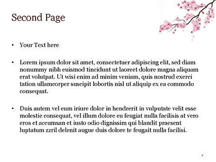 Sakura PowerPoint Template, Slide 2, 15448, Nature & Environment — PoweredTemplate.com