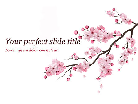 Nature & Environment: Sakura PowerPoint Template #15448