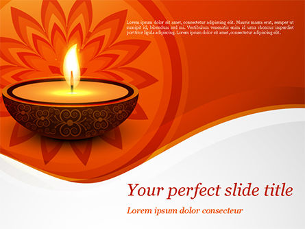 Holiday/Special Occasion: Diwali PowerPoint Template #15455
