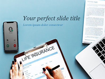 Careers/Industry: Life Insurance PowerPoint Template #15457