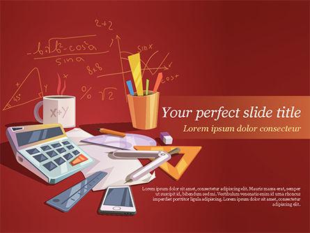 Mathematical Calculations PowerPoint Template, 15461, Education & Training — PoweredTemplate.com