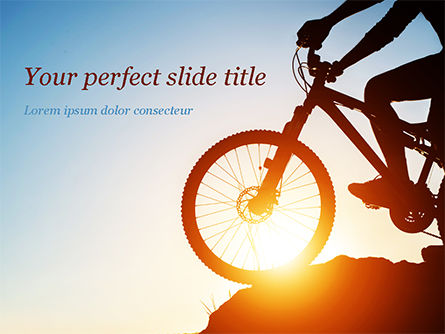 Sports: Morning Cycling PowerPoint Template #15462