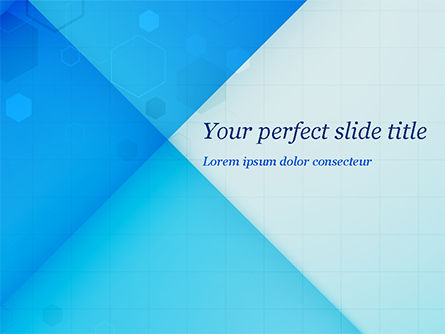 Abstract/Textures: Abstraction with Blue Triangles and Squares PowerPoint Template #15463