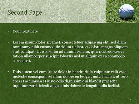 Golf Ball on Grass PowerPoint Template, Slide 2, 15464, Sports — PoweredTemplate.com