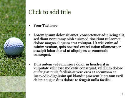 Golf Ball on Grass PowerPoint Template, Slide 3, 15464, Sports — PoweredTemplate.com