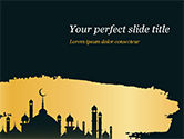 Religious/Spiritual: Silhouette Of Mosque PowerPoint Template #15465
