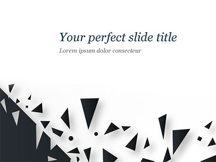 Abstract/Textures: Abstract Broken Black Glass PowerPoint Template #15467