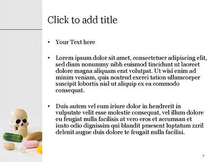 Pills and Skull PowerPoint Template, Slide 3, 15468, Medical — PoweredTemplate.com