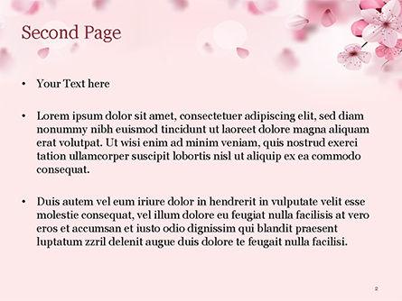 Delicate Sakura Flowers PowerPoint Template, Slide 2, 15470, Nature & Environment — PoweredTemplate.com