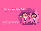 Holiday/Special Occasion: Kids on the Holi Festival PowerPoint Template #15473