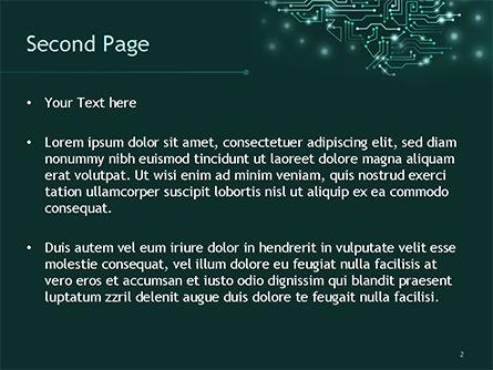 AI Brain PowerPoint Template, Slide 2, 15475, Technology and Science — PoweredTemplate.com