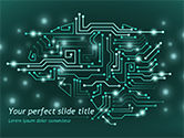Technology and Science: AI Brain PowerPoint Template #15475
