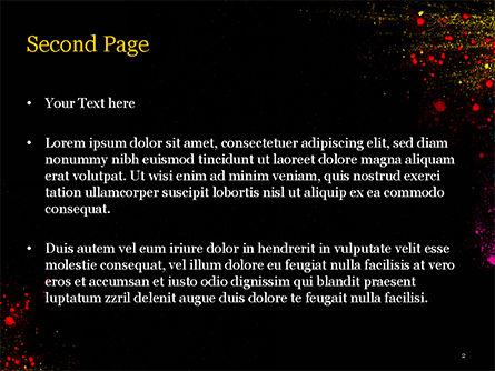 Colorful Powder Paint Splash PowerPoint Template, Slide 2, 15477, Abstract/Textures — PoweredTemplate.com