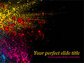 Abstract/Textures: Colorful Powder Paint Splash PowerPoint Template #15477
