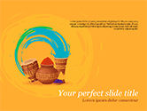 Holiday/Special Occasion: Holi Festival Accessories PowerPoint Template #15479