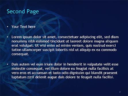 Tangled Data PowerPoint Template, Slide 2, 15481, Abstract/Textures — PoweredTemplate.com