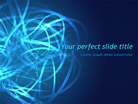 Abstract/Textures: Tangled Data PowerPoint Template #15481