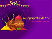 Holiday/Special Occasion: Holi-festivalkannen PowerPoint Template #15482