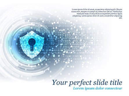 Technology and Science: Big Data Security PowerPoint Template #15484