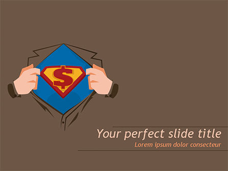 Financial/Accounting: Superman Symbol on Chest PowerPoint Template #15488