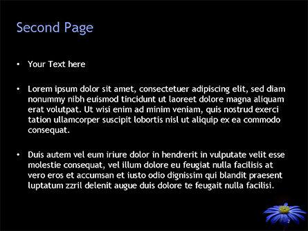 Blue Flower PowerPoint Template, Slide 2, 15489, Nature & Environment — PoweredTemplate.com