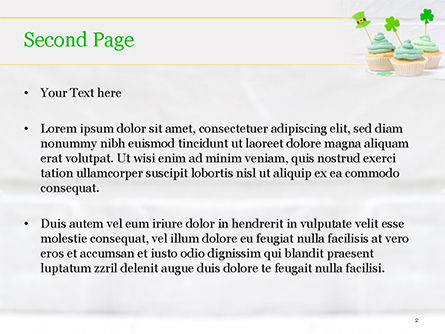 St. Patrick's Day Desserts PowerPoint Template, Slide 2, 15491, Holiday/Special Occasion — PoweredTemplate.com