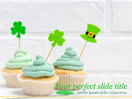 Holiday/Special Occasion: St. Patrick's Day Desserts PowerPoint Template #15491