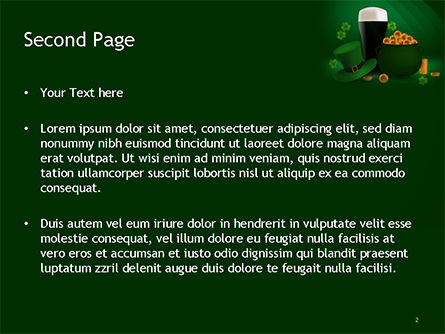 St. Patrick's Day Symbols PowerPoint Template, Slide 2, 15493, Holiday/Special Occasion — PoweredTemplate.com