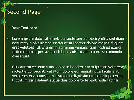 Frame with Irish Theme PowerPoint Template, Slide 2, 15495, Abstract/Textures — PoweredTemplate.com