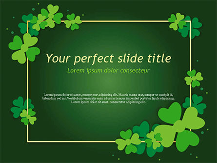Abstract/Textures: Frame with Irish Theme PowerPoint Template #15495