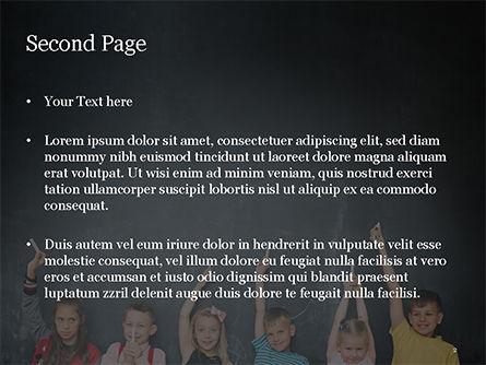 Kids Near Blackboard PowerPoint Template, Slide 2, 15501, Education & Training — PoweredTemplate.com