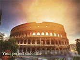 Construction: The Ancient Roman Colosseum PowerPoint Template #15508