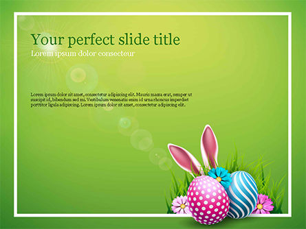 Holiday/Special Occasion: Cute Easter Background PowerPoint Template #15509