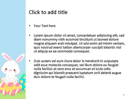 Adorable Easter Bunny PowerPoint Template, Slide 3, 15513, Holiday/Special Occasion — PoweredTemplate.com